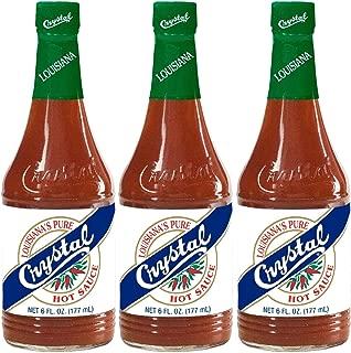 Crystal Hot Sauce Louisiana's Pure Hot Sauce 6 oz (Pack of 3)