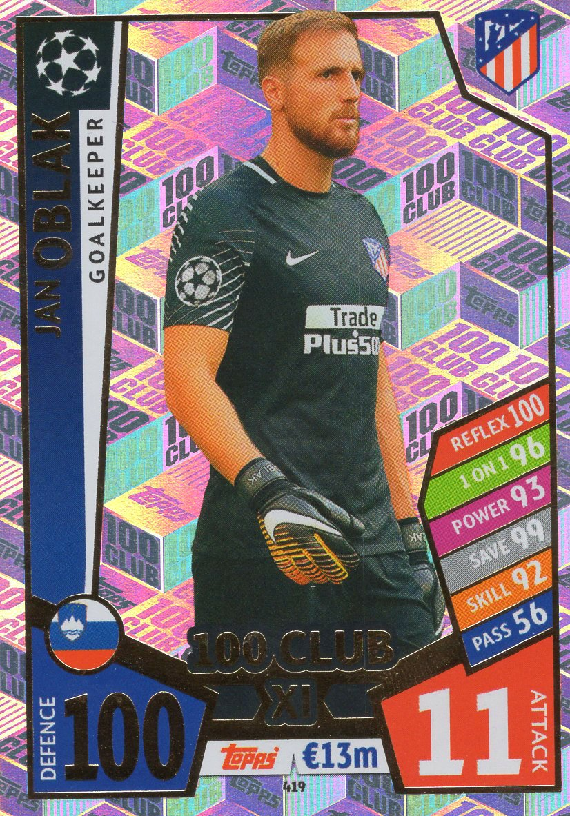 2017 2018 Match Attax UEFA Champions League 100 tarjetas XI Club-Usted Elige
