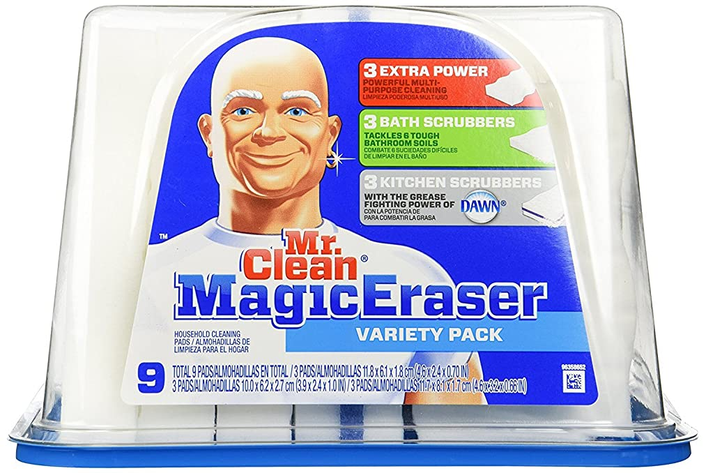 Mr. Clean Magic Eraser, Variety Pack- 9 Pads