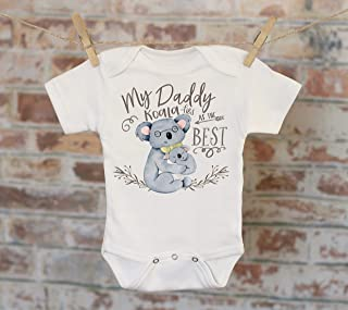 My Daddy Koala-fies As The Best Koala Onesie®, Daddy Onesie, Bohemian Onesie, Cute Onesie, Boho Baby Onesie, Love Onesie
