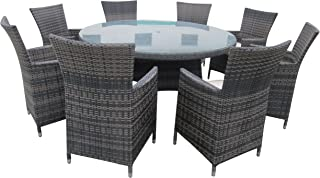 round patio table set for 8