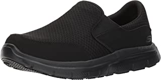 Skechers for Work Men's 77047 Workshire Corpus Oxford Steel Toe Work Shoe