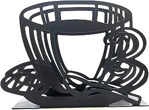 Napkin Holder: Freestanding Tissue Dispenser/Holder; Table Napkin Holder for Home Kitchen Restaurant Picnic Party wedding etc./ Galvanized Décor (Coffee Cup)