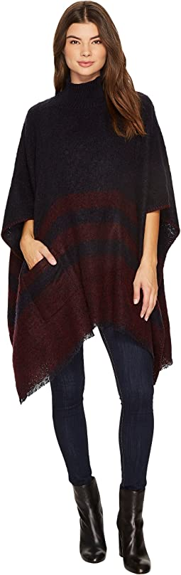 LAUREN Ralph Lauren - Brushed Saddle Stripe Poncho