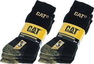 6 pares Calcetines CAT trabajo para hombres, doble refuerzo en puntera y talón, hilos de excelente calidad Esponja de algodón