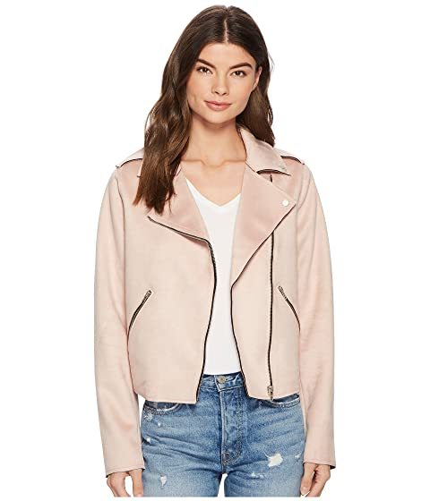 MEMBERS ONLY Suede Pu Moto Jacket, Light Pink
