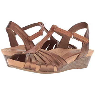 Rockport Cobb Hill Collection Cobb Hill Hollywood Pleat T (Bronze) Women