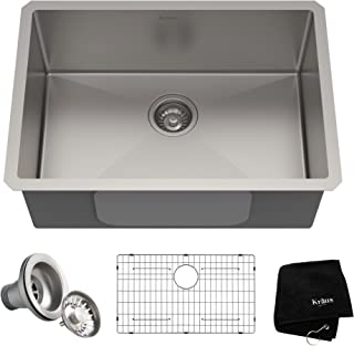 Kraus KHU100-26 Kitchen Sink, 26 Inch, Stainless Steel