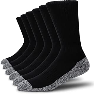 6 Pairs Cotton Cushion Crew/Ankle Sport Socks Wicking Work Athletic Running Socks for Men&Women