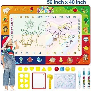 Tapis Dessin Enfant/Tapis de Griffonnage d'eau 150 * 100cm avec 3 Stylos à Eau Magique Idee Cadeau Enfant Jouet Educatif p...