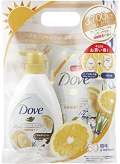 Dove ダヴ ボディウォッシュ グレープフルーツ&レモングラス お試し容量ポンプ + つめかえ(本体380g+リフィル360g)