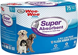 (2 Pack) Four Paws Super Absorbent Wee Wee Pads (75-Count Per Pack / 150 Total)