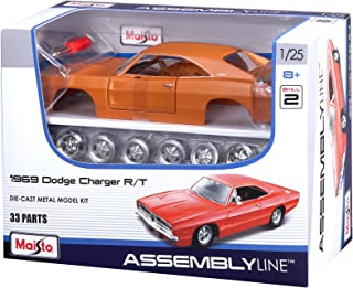 Maisto 1:25 Scale Assembly Line 1969 Dodge Charger R/T Diecast Model Kit