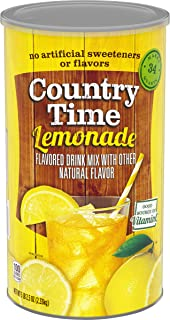 Country Time Lemonade Mix, Caffeine Free, 82.5 oz Cannister