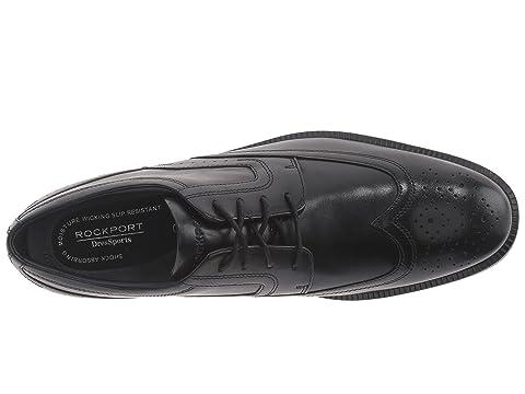 D'affaires Cuir Marron Rockport Bout En Dressports Leathernew Noir D'aile 6xqtwB