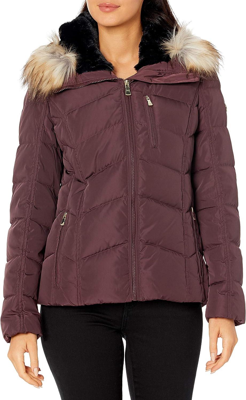 Calvin Klein Women's Chevron Down Short famous Coat Quilted Max 65% OFF