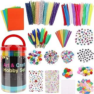 Hiveseen Fournitures de Bricolage, Set Activite Manuelle Enfant, Artisanat, Kit de Loisir Creatif Enfant Comprendre Pompon...