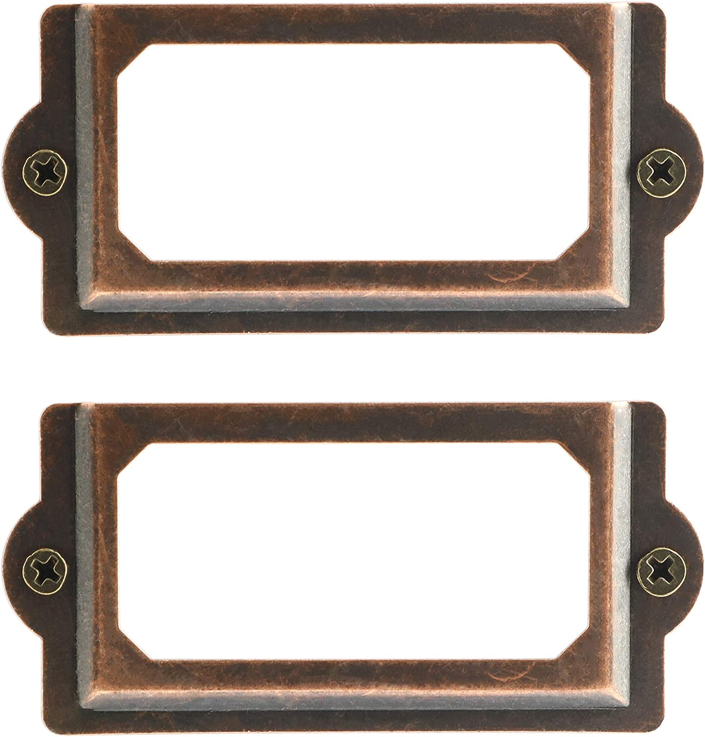10pcs Iron 70x33mm Drawer Label Frame Card Holder for Cabinets Drawers Cases