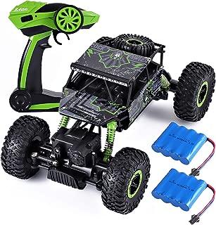 ラジコンカー RCカー 2.4GHZ 4WD オフロードリモコンカー ラジコンオフロード 四駆 電動オフロードバギー バギー 男の子向け 乗り越え抜群 子供向け おもちゃ 贈り物 (グリーン)