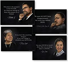 Black History Month Decorations (Set of 4 Powerful Black History Posters) Set Includes..