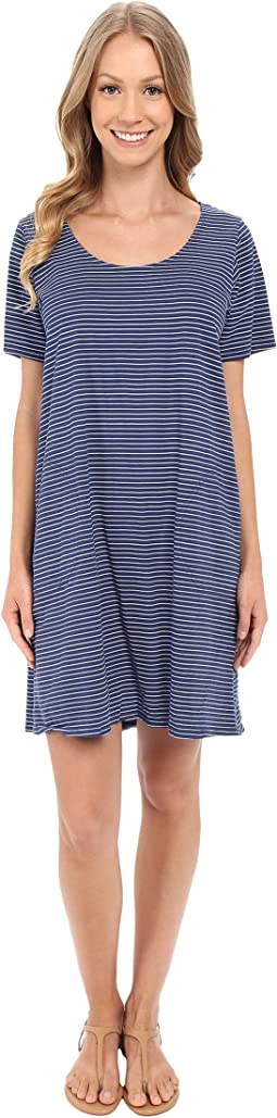 Fresh Produce - Pinstripe Allure T-Shirt Dress