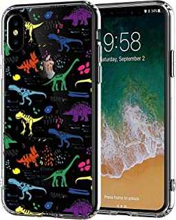 iPhone 6 Case and iPhone 6S Case with Air Cushion Technology Drop Protection Clear Soft Rubber TPU Case for Apple iPhone 6/6S (Graffiti Dinosaur Pattern)