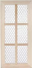 Darice Chicken Wire, Unfinished Wood Door Frame, 6 Panes