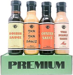 Premium | ASIAN SAUCE | Variety 4 Pack | Hoisin Sauce | Oyster Sauce | Yum Yum Sauce | Thai Peanut |