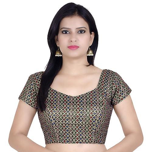 9bc86b350703e7 Chandrakala Women s Designer Bollywood Readymade Indian Style Ethnic Saree  Blouse Padded Brocade Choli (B106)