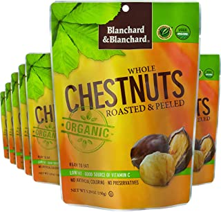 Blanchard & Blanchard Organic Whole Chestnuts Roasted and Peeled (Pack of 12)