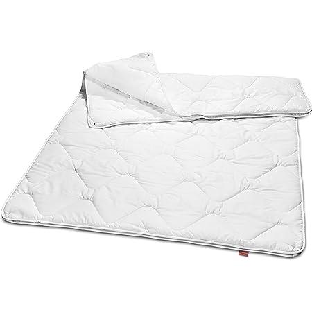 sleepling 190067 Couette 4 Saisons pour Toute l'année (Remplissage 600 + 985 GR.), 100% Coton Satin hypoallergénique, 155 x 220 cm, Blanc