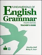 Fundamentals of English Grammar Teacher's Guide and Teacher Resource Disc, Fourth Edition