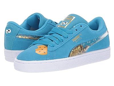 Puma Kids Sesame Street 50 Suede Statement (Big Kid) (Bleu Azur/Puma White) Kids Shoes