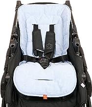 Kaiser 6537829 Sommer Komfortauflage, Kinderwagenauflage Kinderwageneinlage SitzauflageCrown, light blue melange