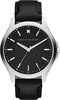 Armani Exchange Men's AX2182 Black  leather Quartz Watch