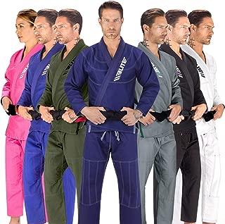 Elite Sports BJJ GI for Men IBJJF Kimono BJJ Jiujitsu GIS W/Preshrunk Fabric & Free Belt