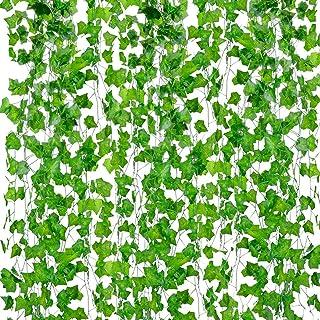PETALSHUE-Artificial Ivy Garlands Leaves Greenery Hanging Vine Creeper Plants Bunch for Home Decor maindoor Wall Door Balc...