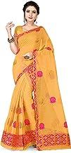 S Kiran's Women's Cotton Blend Saree With Unstitched Blouse; Unstitched Mekhela Chador (NuniColour3740Goldrani_Gold)