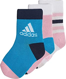 Adidas Kids Training Ankle Socks 3 Pairs Size 10K-12K