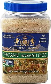 Golden Crown Organic Basmati Rice, 32 Ounce