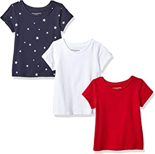 Amazon Essentials Girls' 3-Pack Short-Sleeve Tee