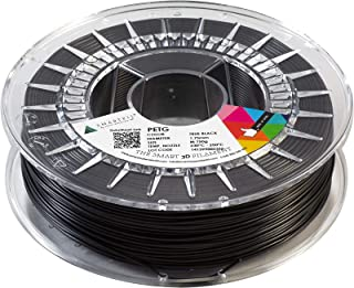 Smartfil PETG 1.75mm, True Black, 750g Filamento para Impresión 3D de Smart Materials 3D