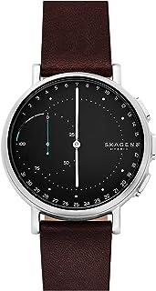 Skagen Men's Digital Watch smart Display and Leather Strap, SKT1111