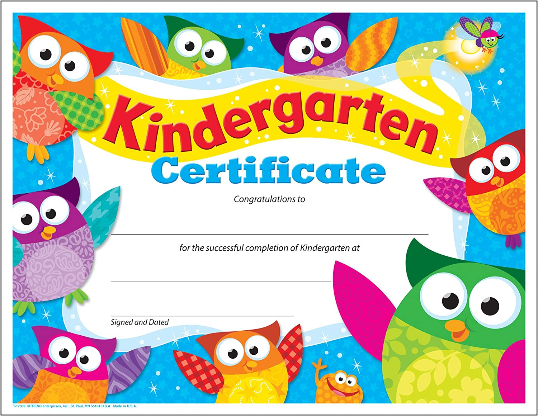 TREND enterprises Inc. At the price of surprise Kindergarten 30 2021 Certificate Owl-Stars