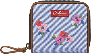 Cath Kidston Painted Pansies Premium Compact Continental Wallet - Blue