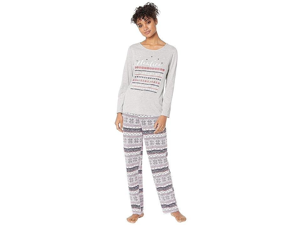 Nautica Graphic Pajama Set (Pink Print) Women