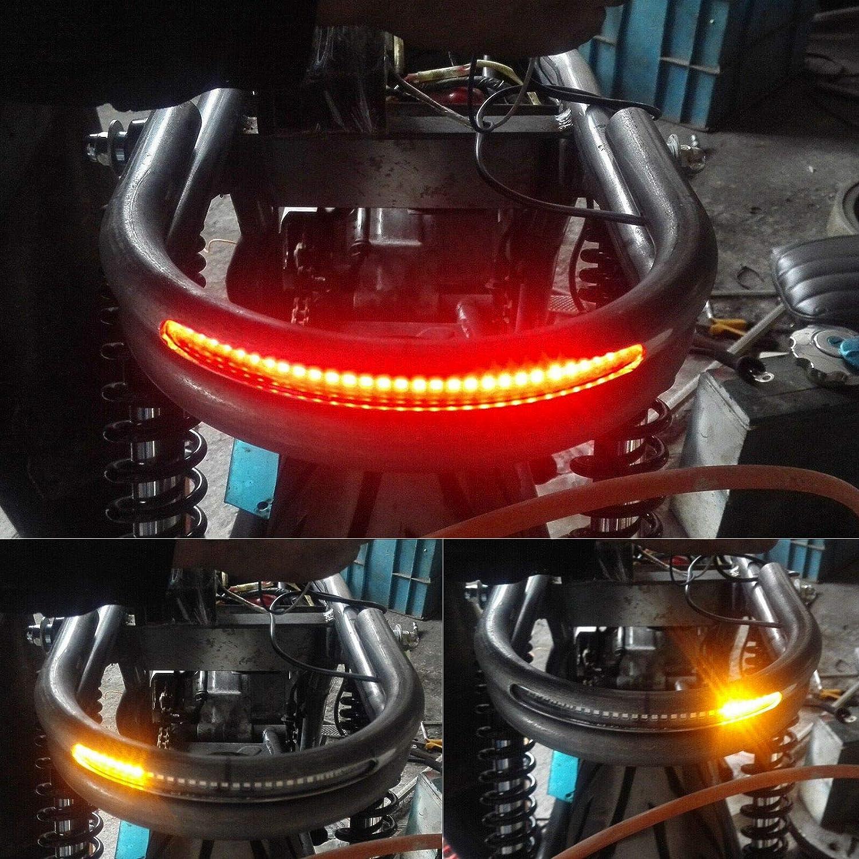 Support de montage de cerceau de cadre de si/ège arri/ère de Cafe Racer avec feu de freinage /à LED 175mm