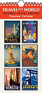 Travel The World Perpetual Calendar Birthday Anniversary Family Date Annual Reminders 5.5