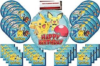 Pokemon Pikachu Party Supplies Bundle Pack for 16 (Bonus 17 Inch Balloon  Plus Party Planning afcfc1847