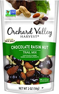 ORCHARD VALLEY HARVEST Chocolate Raisin Nut Trail Mix, 2 oz (Pack of 14), Non-GMO, No Artificial Ingredients